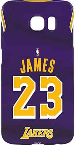 283bbbfef5b Skinit NBA Los Angeles Lakers Galaxy S7 Edge Lite Case - LeBron James Lakers  Purple Jersey