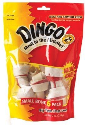 Dingo 95005 Small White Rawhide Dog Bones 6 Count