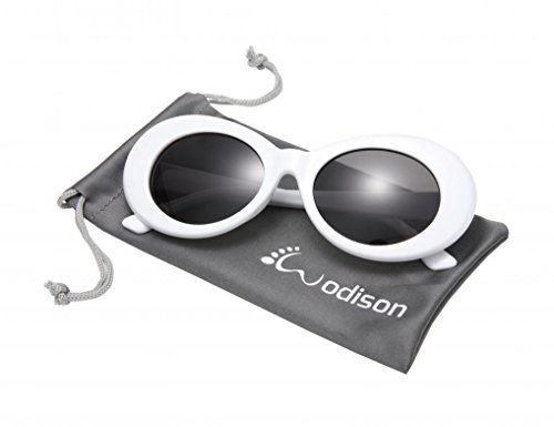 WODISON Women Men Clout Goggles Vintage Oval Mod Sunglasses Thick Frame Retro Eyewear - With Oval Faces People