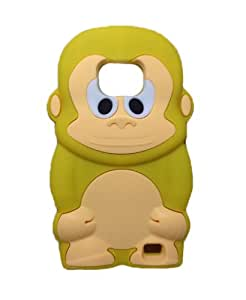 Thunderous Yellow 3D Cartoon Monkey Soft Shell Case Cover for Samsung Galaxy S2 i9100