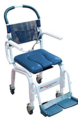 18u0026quot; Euro Style Rehab Shower Chair Commode, 300lbs Cap