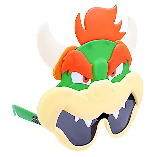 Costume Sunglasses Nintendo Bowzer Sun-Staches Party Favors UV400 -