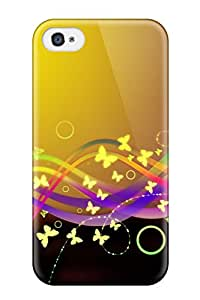 Iphone 4/4s Butterfly Print High Quality Tpu Gel Frame Case Cover