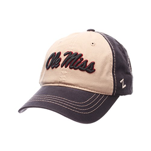 online store bac4e 062a1 ZHATS NCAA Mississippi Old Miss Rebels Men s Sigma Relaxed Cap, Stone Navy,.