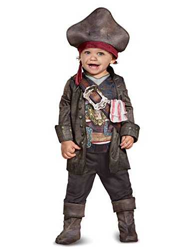 Disney POTC5 Captain Jack Sparrow Classic Toddler Costume,  Multicolor,  Medium (3T-4T) (Captain Jack Sparrow Costume Boys)
