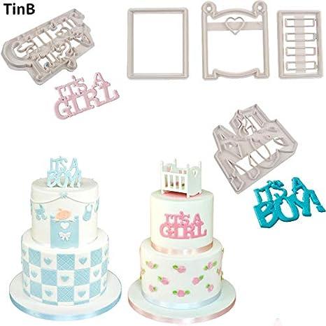 Molde cortador de galletas para cuna con forma de galleta, para decoración de baby shower, galletas, fondant: Amazon.es: Hogar