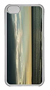 iPhone 5C Case, Personalized Custom Dark Sea And Sky for iPhone 5C PC Clear Case