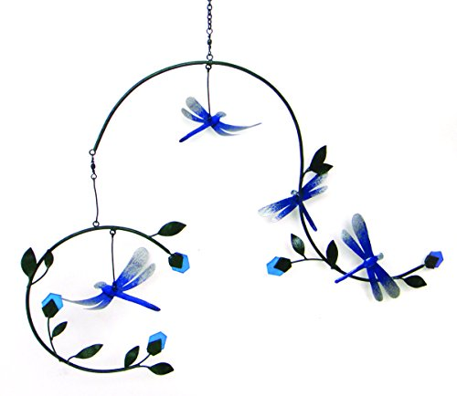 Blue Handworks G474 Decorative Lawn Mobile, Dragonflies