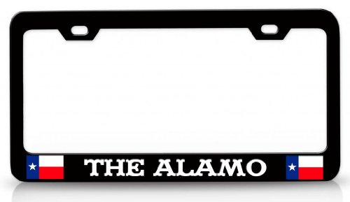 the-alamo-texas-steel-metal-license-plate-frame-bl-26