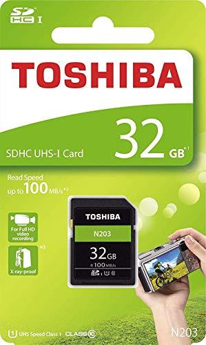 Toshiba 32GB N203 SDHC UHS-I Card U1 Class 10 SD Card Memory Card 100MB/s (THN-N203N0320A4) ()