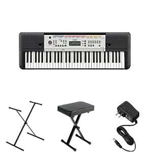 yamaha ypt 260 portable keyboard bundle with. Black Bedroom Furniture Sets. Home Design Ideas