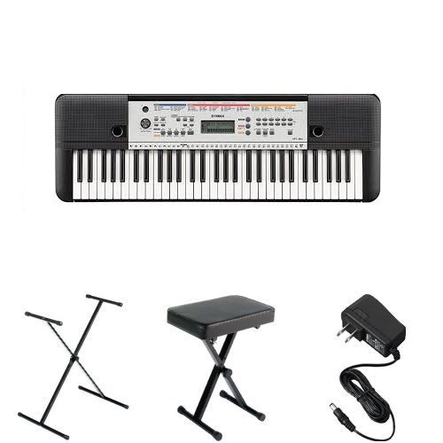 Yamaha YPT-260 Portable Keyboard Bundle with Stand, Bench and Power Adapter