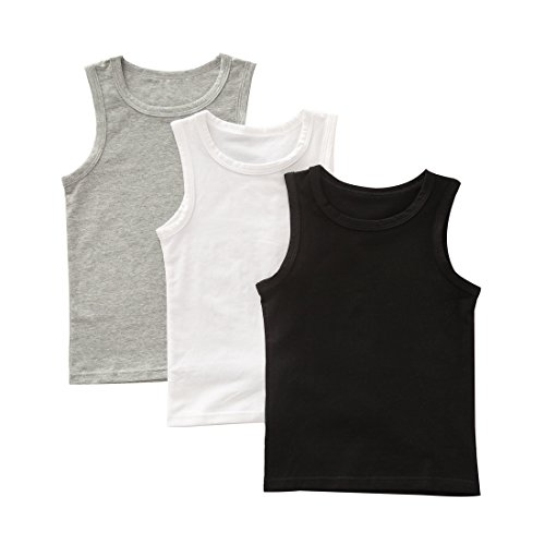 benetia Boys Undershirt Cami Soft Cotton 3 Pack