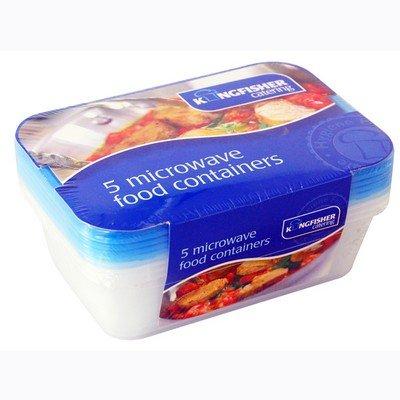 Pantalla de 5 envases para microondas [Alex Whyte® marca ...