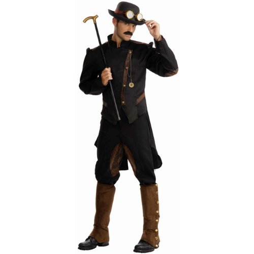 Forum Novelties Men's Steampunk Gentlemen Costume - Pick Size (Large, Brown/Black)