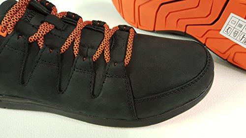 Boxfresh Herren Lederschuhe Schnürschuhe Clifden schwarz orange