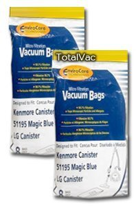1 X 16 KENMORE 51195 BLUE MAGIC MICROFILTRATION VACUUM BAGS (Kenmore Blue Magic Parts compare prices)