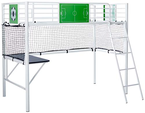 Powell 14Y2015LB Goal Keeper Loft Bed, Twin, White ()