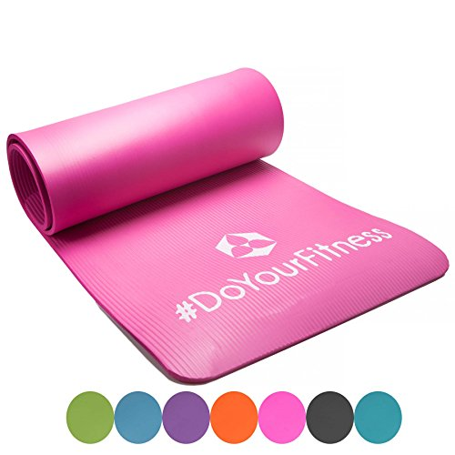 #DoYourFitness Fitnessmatte Yogini ideal für Pilates Gymnastik und Yoga Maße: 183 x 61 x 1.0 cm pink, 122566223