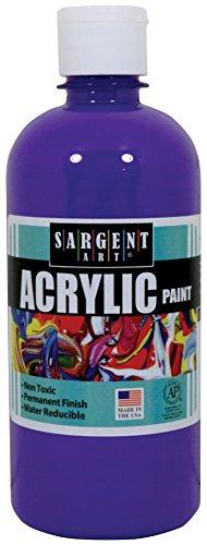 Sargent Art 24-2442 16-Ounce Acrylic Paint, Violet (Violet Acrylic Paint)