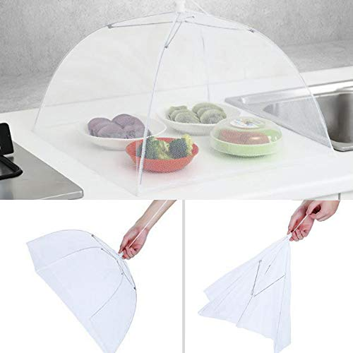 Hisoul Food Cover Tents - Collapsible and Washable Pop Up Mesh Screen Food Cover Tents Picnic BBQ Plate Umbrella Protector - Food Protector Tent Keep Out Flies, Bugs, Mosquitoes (Random) by Hisoul (Image #1)