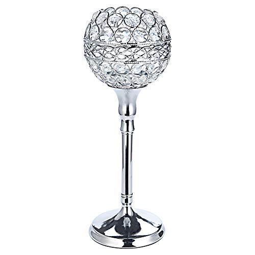 RNTOP Crystal Candle Holders Set Tall Taper Tealight Candlestick Holder for Wedding Kitchen Dinner Tabletop Centerpieces Decorative, Christmas Thanksgiving Gifts (S) ()