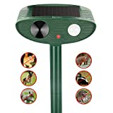 Redeo Ultrasonic Animal Repeller Outdoor Solar Powered with Motion Sensor Cat Dog Deer