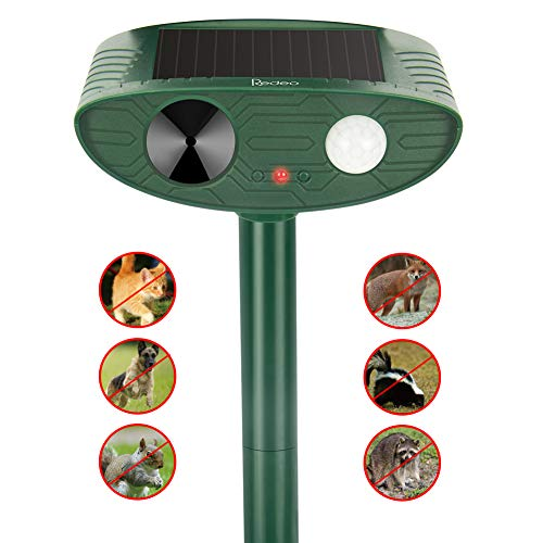 Redeo Ultrasonic Animal Repeller Outdoor Solar Powered with Motion Sensor Cat Dog Deer Bird Repellent Control Garden Chaser (ArmyGreen)