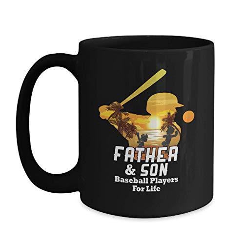 Baseball Dad Son Matching Gift - Father And Son For Life - 11oz Black Coffee | Tea Mug