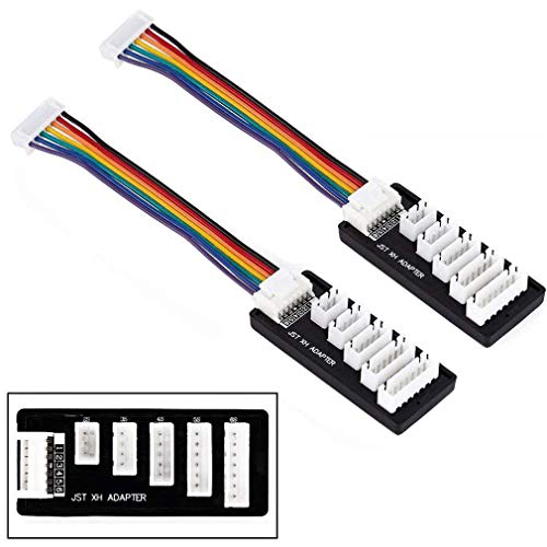 ShareGoo 2 Pack JST-XH 2S-6S 3S Balance Charger Extend Expansion Board Adapter Converter for RC Vehicles Lipo Battery Charging