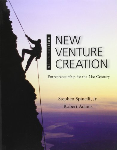 New Venture Creation: Entrepreneurship for the 21st Century by Spinelli, Stephen, Adams, Rob (2011) Paperback