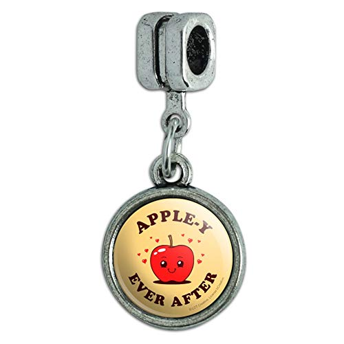 GRAPHICS & MORE Apple-y Happily Ever After Funny Humor Italian European Style Bracelet Charm Bead
