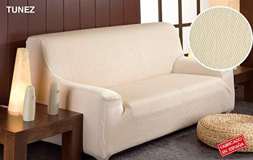 Martina Home Tunez, Copridivano elastico, Tela (50% poliestere, 45% cotone, 5% elastan), Beige, 1 Posto (70-110 cm lunghezza)
