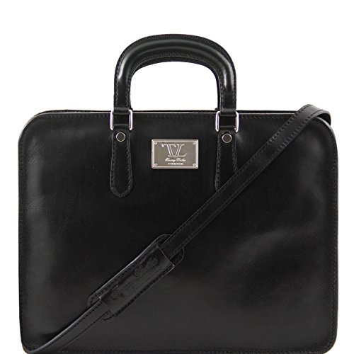 81409614 - TUSCANY LEATHER: ALBA - Serviette en cuir pour femme, noir