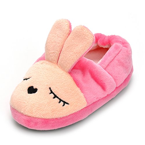 Enteer Baby Girls' Bunny Slipper 5-6 M US Toddler, -