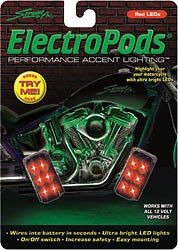 (Street FX 1041907 ElectroPods Multicolor Motorcycle Rectangular Pod, (Pack of 2))