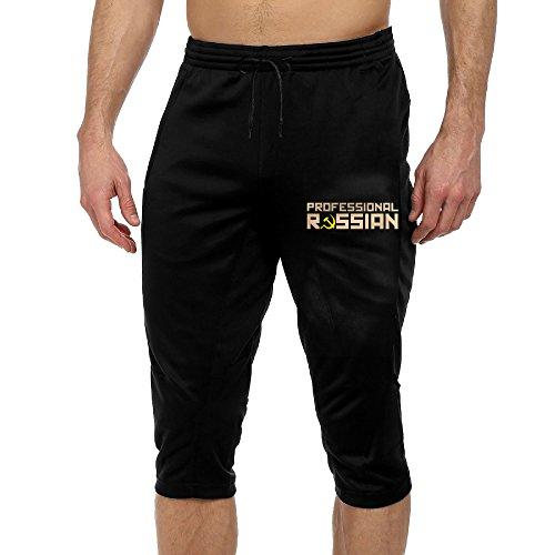 Professional Russian Men Novelty Jogging Harem (Black Russian Pants)