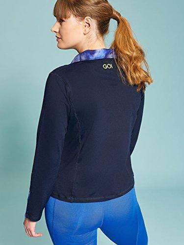 Fiorella Rubino - Sudadera de tejido de punto high performance , Mujer Azul