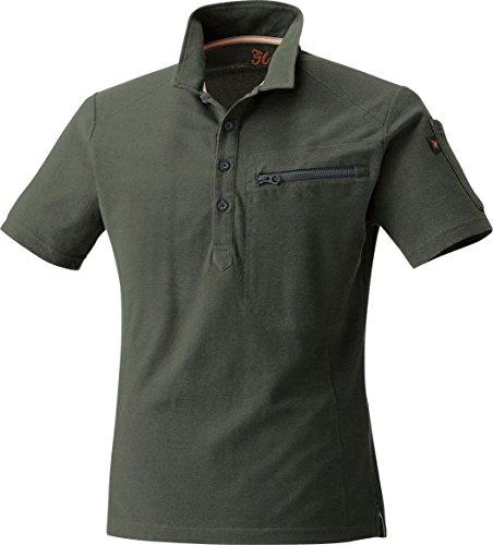 MK:274 綿100% 鹿の子半袖ポロシャツ【脇消臭 肌に優しい 通気性良い ポケ付】