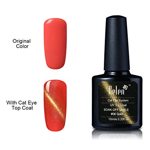 Nail Polish, Belen Cat Eye Gel Nail Polish Top Coat Metal Ch