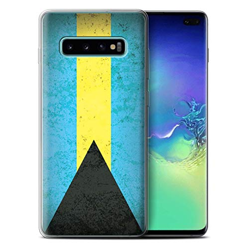 eSwish Gel TPU Phone Case/Cover for Samsung Galaxy S10 Plus/Bahamas/Bahamian Design/Americas Flag Collection
