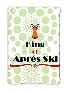 Apres Ski 3 Red Snowboarding Reindeer Funny Miscellaneous Winter Sports King Of Aprs Fun Snow Party Christmas Case Cover For Ipad Air