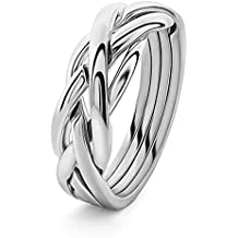 ring sterling size dp band puzzle silver to pcs rings amazon com
