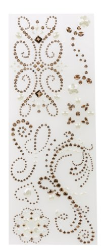 Pearl Swirl Wedding Invitations (K&Company Adhesive Gem Stickers, Rose Swirl)