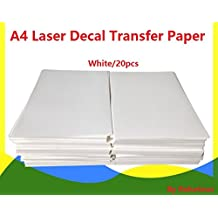 A4 Laser Water Slide Decal Paper 20 Sheets White DIY for Laser Printer