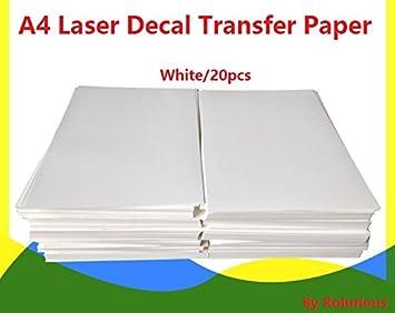 Klar Inkjet Wassertransferdruck Papier 10 Blatt A4