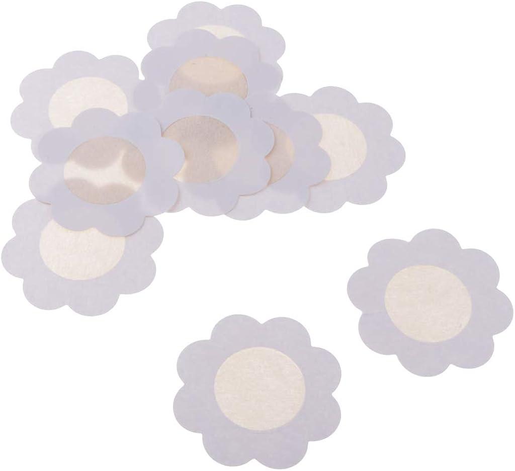 dailymall 10er Pack Nipple Cover Einweg Unsichtbare Nippelabdeckung Brust Aufkleber Nippel Cover Nippelpads Bl/ütenform Selbstklebend und Wasserdicht