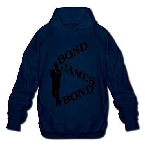 (QTHOO Men's Long Sleeve Bond James Bond Lightweight Hoodie)