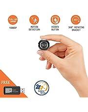 Yilutong 1080P Mini Kamera Tragbare Überwachungskamera, Mikro Nanny Cam mit Bewegungserkennung, Compact Sicherheit Kamera für Innen und Aussen
