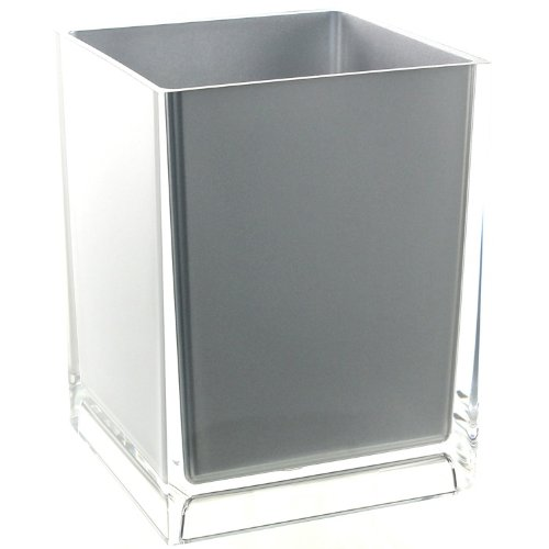Gedy Rainbow Free Standing Waste Basket With No Cover, Silver by Gedy